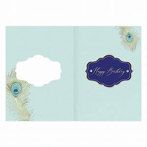 Peacock Feather Birthday Card   Punch Studio