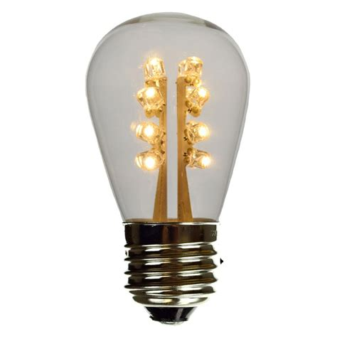 led s14 light bulb medium base warm white glass