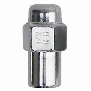 4227 Chrome Mag Lug Nut 1  2 U0026quot