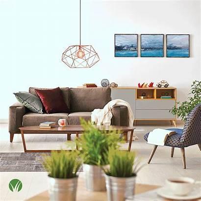 Living Sofa Animated Furniture Cozy Interior Apartment