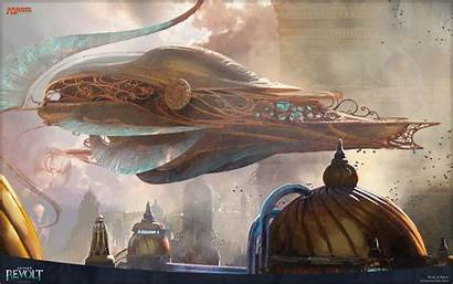 Magic Fantasy Aether Wizards Airship Revolt Space