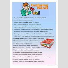Confusing Words  Upperintermediate Worksheet  Free Esl Printable Worksheets Made By Teachers