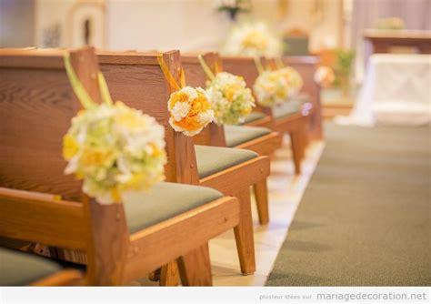 deco simple des bancs de leglise decoration mariage