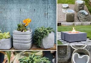 vous allez apprendre a realiser un pot en beton tres joli With affiche chambre bébé avec bac à fleurs ciment