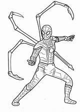 Coloring Spider Iron Infinity Avengers War Spiderman Printable Gauntlet Endgame Lego Marvel Whitesbelfast Strange Coloringonly Suit Artstation Morales Miles Captain sketch template