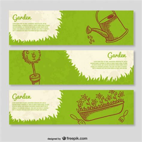 garden template garden banner templates vector free download