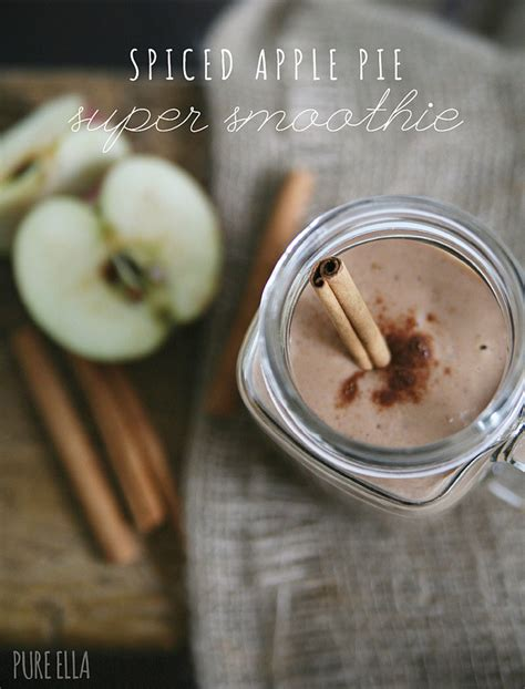Spiced Apple Pie Super Smoothie  Pure Ella