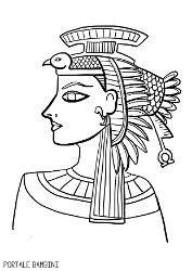 disegni sugli egizi  sullantico egitto da colorare