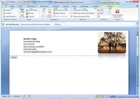 create  letterhead template  microsoft word cnet
