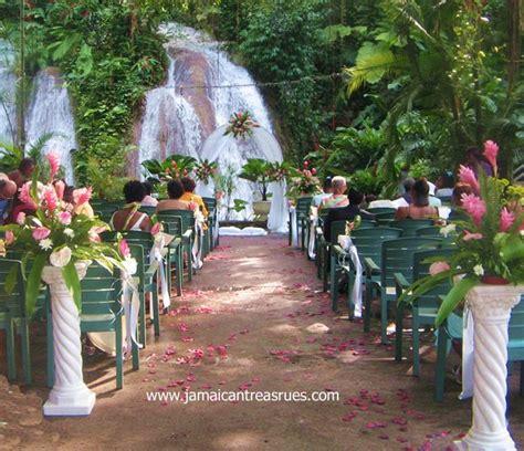 jamaica wedding   waterfalls  lush tropical