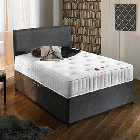 charcoal grey luxury suede divan bed set