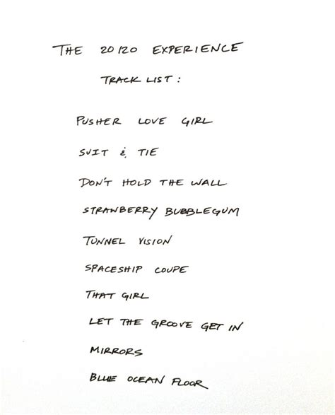 Justin Timberlake Releases The 20/20 Experience Track List ...