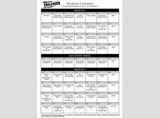 Insanity Workout Calendar calendar month printable
