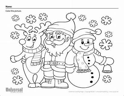 Christmas Coloring Santa Reindeer Snowman Printables Activities