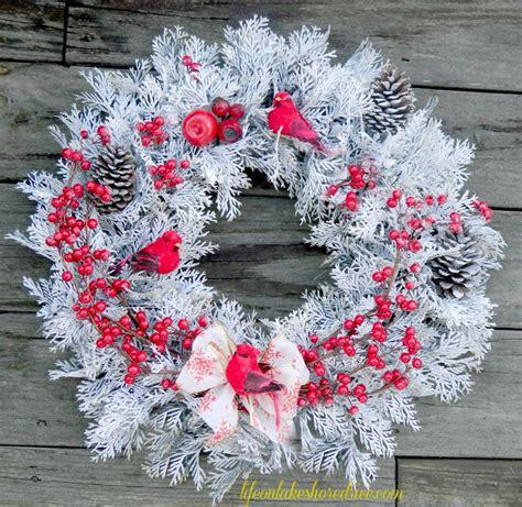 red berry winter wreath allfreechristmascraftscom