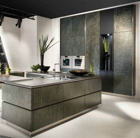 German kitchen brand launches stunning stone veneer kitchen