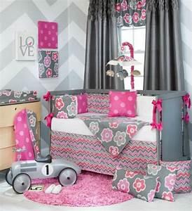 1001 conseils et idees pour une chambre en rose et gris With tapis chambre bébé avec fleur deco mariage