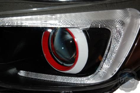 2015 subaru wrx black white custom painted headlights