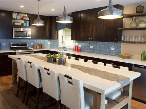 Awesome Large Kitchen Islands With Seating