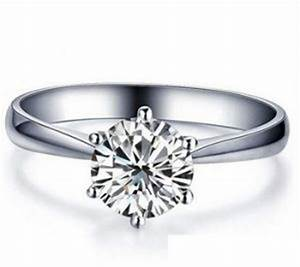 italina 1carat 6mm cz stone women 925 sterling silver With wedding rings abu dhabi