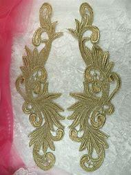 Gold Metallic Lace Applique