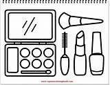 Coloring Makeup Drawing Tool sketch template