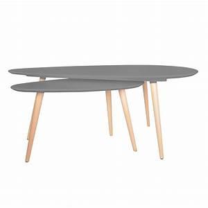 Set De Table Design : set de deux tables gigognes design demeure et jardin ~ Teatrodelosmanantiales.com Idées de Décoration