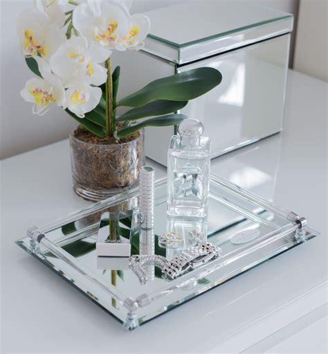 Mirrored Bathroom Tray mirrored vanity tray decorate mirror vanity tray