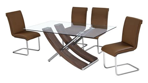 glass table six chairs walnut and glass dining table with 6 chairs homegenies
