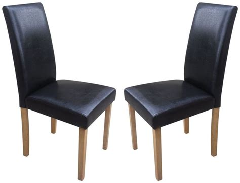 torino black faux leather dining chairs 1 2 price sale now