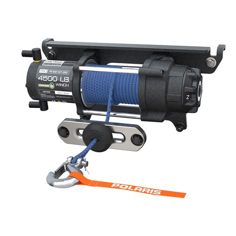 polaris 174 pro hd 4 500 lb winch with rapid rope recovery polaris ranger