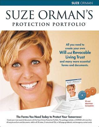 suze orman forms suze orman s protection portfolio the forms you need