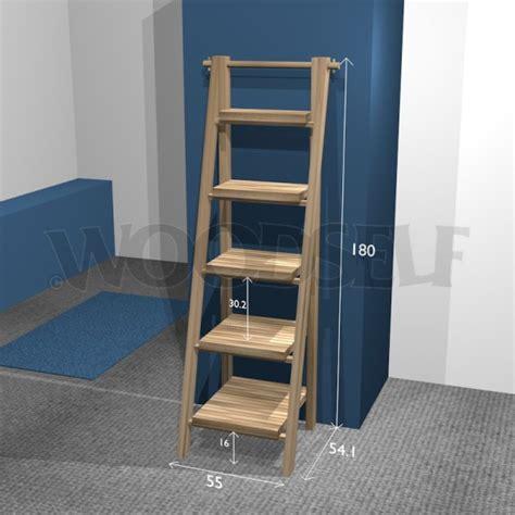 ladder shelf woodself  plans  woodworking