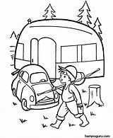 Camping Coloring Printable Camper Caravan Pages Sheets Rv Trailer Embroidery Printables Adult Preschool Cars Colouring Fastseoguru Print Kleurplaten Campers Tent sketch template