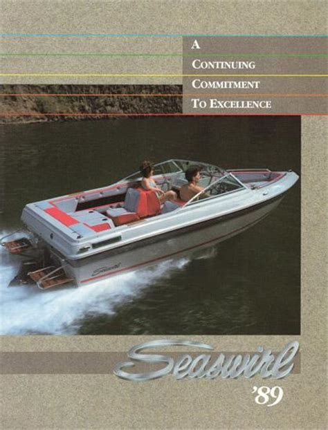 1989 Wellcraft Boat Brochure by Seaswirl 1989 Brochure Sailinfo I Boatbrochure