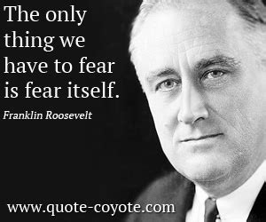 fear quotes  famous people quotesgram