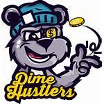 Hustlers Bear Graffiti Dime Cartoon Vector Character