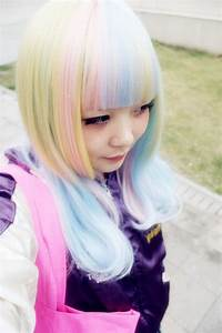Couleur Cheveux Pastel : pastel rainbow hair cheveux couleurs rose bleu coiffure cheveux et couleur rose ~ Melissatoandfro.com Idées de Décoration