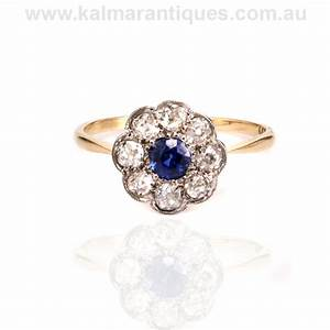 edwardian era antique sapphire and diamond ring With vintage sapphire wedding rings