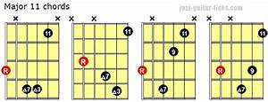 Major 11 Chords Guitar Shapes And Theory Guitar Jazz