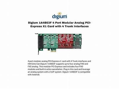 Pci Analog Trunk Digium X1 Interfaces Modular