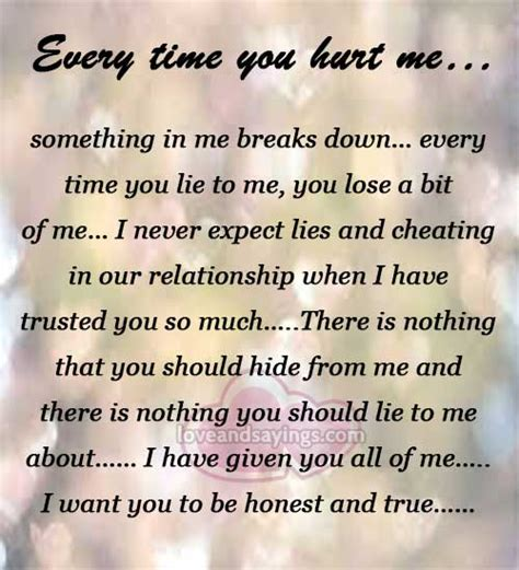 You Really Hurt Me This Time Quotes