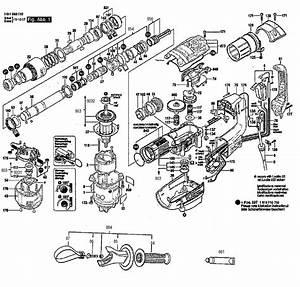 Bosch Model Rh540m Drill Hammer Genuine Parts