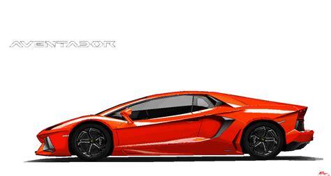 Lamborghini Aventador Ms Paint By Ant787 On Deviantart