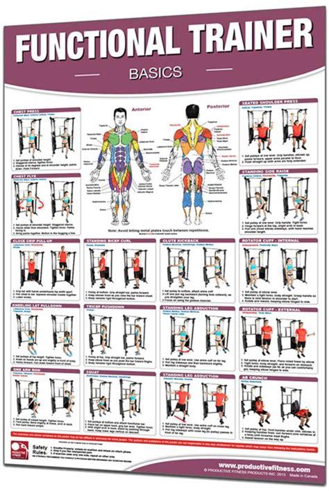 functional trainer exercises poster basics homefit