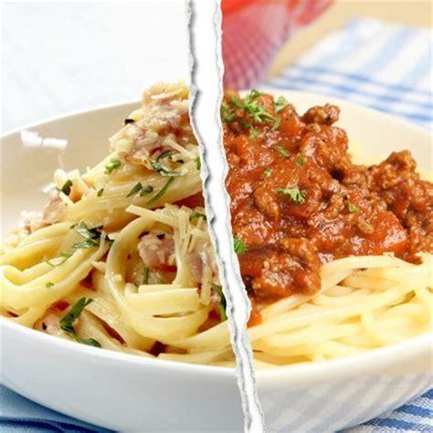 calories pates bolognaise restaurant grand match des aliments carbonara vs bolognaise diaporama nutrition doctissimo