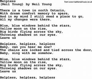 Bruce Springste... Helplessly Lyrics