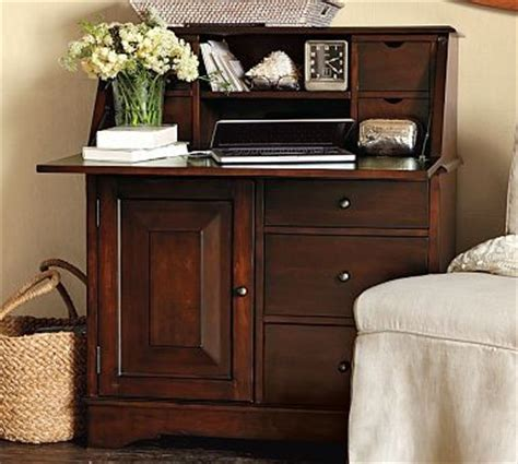 pottery barn graham desk and hutch for sale graham secretary with smart technology tm mahogany stain