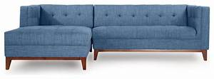 kardiel harrison mid century modern sofa chaise sectional With harrison left facing sectional sofa