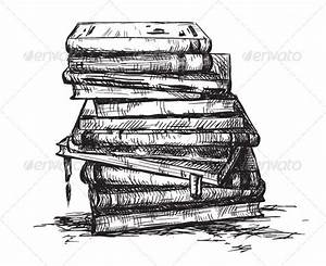 pile of books drawing - Google Search | Still Life Ideas ...